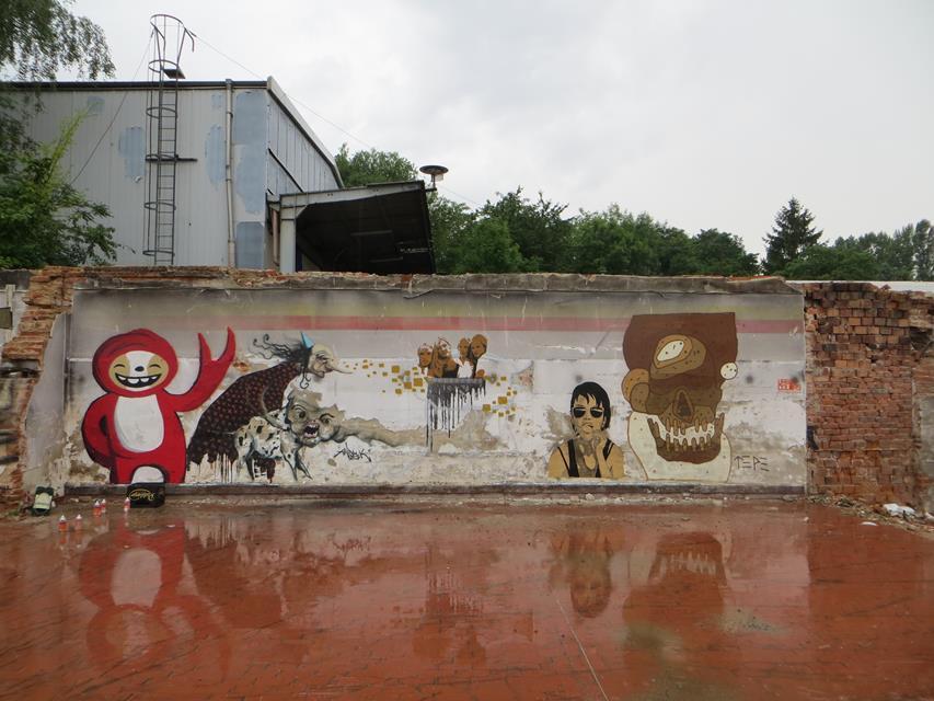 16. Street Art Grobitz Wand