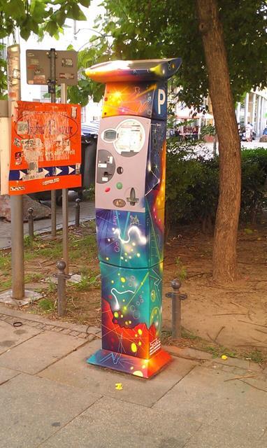 Parkautomat an der Alaunstraße gegenüber Messermager