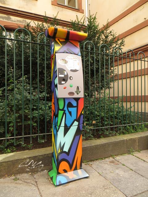 Parkautomat an der Louisenstraße 40-42
