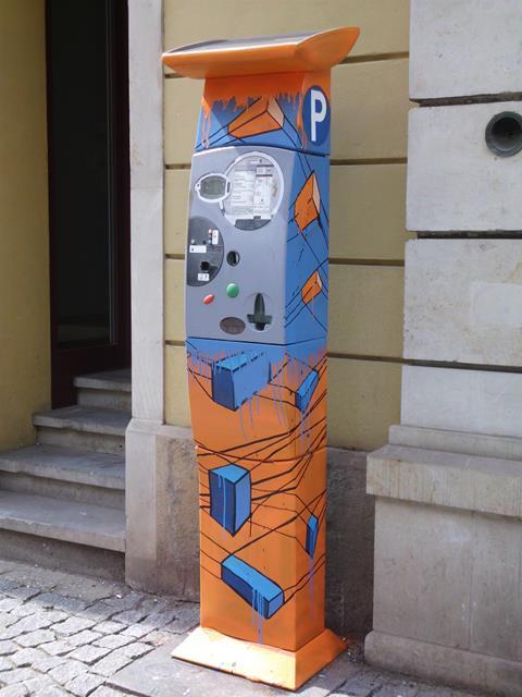 Parkautomat an der Görlitzer Straße 47