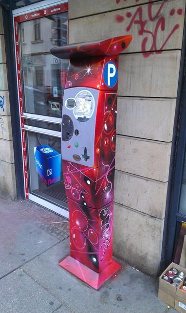 Parkautomat an der Alaunstraße 25