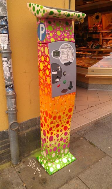 Parkautomat an der Alaunstraße 31