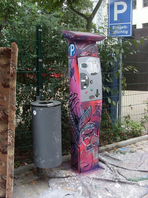 Parkautomat an der Alaunstraße neben Espitas